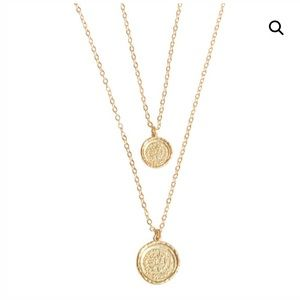 Amber Sceats Double Medallion Necklace
